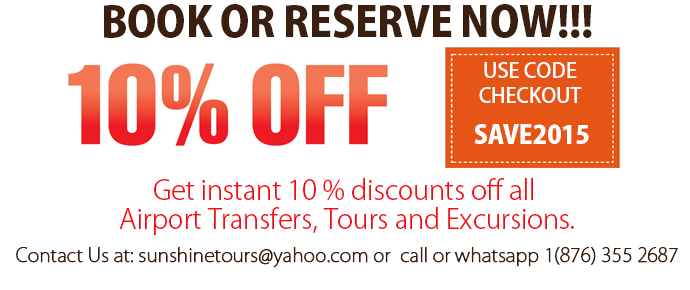 Jamaica Discount on Airport Transfer and Tours